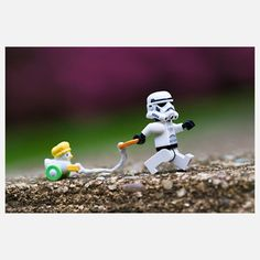 $18 Walking Miss Duckie 10x8 now featured on Fab. Duck, duck…stormtrooper? This charming, whimsical print is part of Marcos Minuchin's The Secret Life of Toys collection, which imagines what goes on outside the toy box.