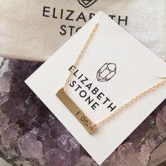 Elizabeth Stone Jewelry - I Do or Mrs. Necklace, (http://www.elizabethstonejewelry.com/i-do-or-mrs-necklace/)