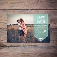 Modern Save the Date Postcard, Save-the-Date Card Photo, Postcard, Calendar Destination Wedding, DIY Printable, Digital File - Karson+Khole