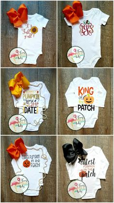 It's fall ya'll sunflower glittler/Mommy's Pumpkin Spice Latte date/king of the patch/cutest pumpkin in the patch/pumpkin monogram/ Baby onesie bodysuit creeper/Toddler tee shirt tshirt/ Youth Toddler Halloween Shirts, Halloween Onesie, Halloween Clothes, Baby Monogram, Monogram Onesies, Baby Girl Fall, Baby In Pumpkin, Baby Onesie, Baby Crafts