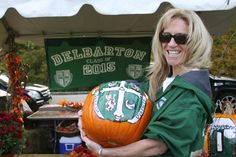 Delbarton mothers outdid them selves at Homecoming 2012, including hand painted pumpkins.
