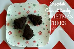 Chocolate Coconut Candy Christmas Trees