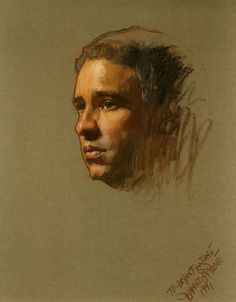 "Pastel 29"" x 21"". Portrait by Daniel E. Greene."