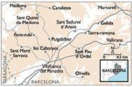 ALT PENEDES Mapa de la zona