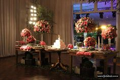 Decoração: Marrom e Rosa Casamento - http://gnt.globo.com/noivas/noticias/Casamento-em-rosa-e-marrom--dupla-compoe-diferentes-estilos-de-decoracao.shtml