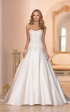 Vestido de novia corte A :: Virtual Novia Book