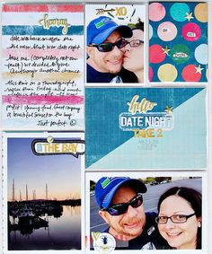 Date Night: Take 2, by Alissa Fast using the Hemingway Collection from www.cocoadaisy.com #cocoadaisy #scrapbooking #kitclub #layout #DITL #pocketpages #projectlife #journaling #stamping #washi