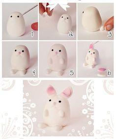 как сделать зайчика из мастики