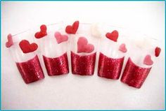 #nails #manicure #valentines #hearts