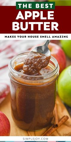 Crockpot Apple Butter will make your house smell like heaven. It is the perfect fall recipe and can be used in so many other recipes. Slow Cooker Apples, Crock Pot Slow Cooker, Pressure Cooker Recipes, Other Recipes, Crockpot Recipes, Great Recipes, Favorite Recipes, Apple Recipes, Fall Recipes