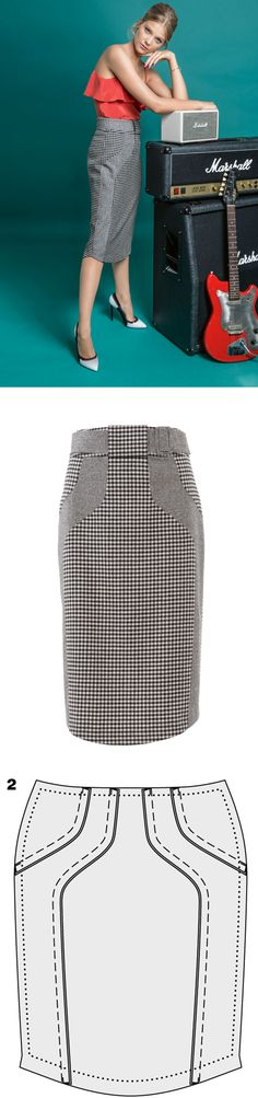 How to sew a pencil skirt with a high waist...♥ Deniz ♥                                                                                                                                                                                 More