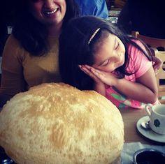 My niece Chloe discovers chole batura Instagram Widget, Chloe, Easy, Food, Meals, Yemek, Eten