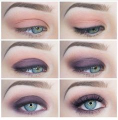 Purple smokey look lorac pro pallet 2 perfect for green eyes