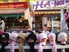 Hats on the street