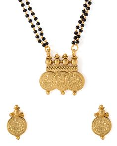 Double Chain Coin Mangalsutra set