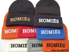7927d1a3ca3 AAAwholesaler    Buy Homies Beanie Hats For Women and Men Winter knitted hat  hiphop spoof skullies NEW 2014 Letter snapback 24 styles Free s.