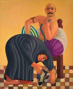 By modern Iraqi artist Faisal Laibi, Relationship, 1989