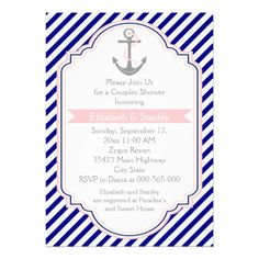 ==>>Big Save on          Navy blue, pink nautical couples wedding shower invitations           Navy blue, pink nautical couples wedding shower invitations We provide you all shopping site and all informations in our go to store link. You will see low prices onShopping          Navy blue, pi...Cleck Hot Deals >>> http://www.zazzle.com/navy_blue_pink_nautical_couples_wedding_shower_invitation-161047197766166956?rf=238627982471231924&zbar=1&tc=terrest