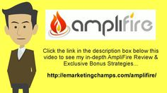 https://www.youtube.com/watch?v=eZl4_j4F73M - amplifire review  Now that you've got a happy customer who enjoys what he's purchased and now has reasons to trust you, the time has come to try to find some other approaches to extend your organization deals along with your client.  Let your now outstanding reputation precede you as you offer increased services which work together with the initial product offering.
