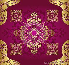 Antique Ottoman Wallpaper Illustration Design Stock Photos - Image: 8616533
