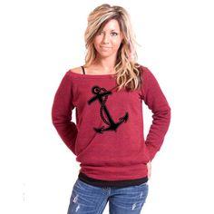 Anchor Bella Slouchy Wideneck Sweater by rainbowswirlz on Etsy, $38.00