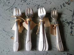 Small Holdings Farm - Wonderful Antique Ice Cream Forks available in the shop.  Who knew you needed an ice cream fork!