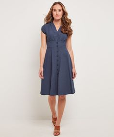Lovely Linen Mix Dress, Women, Dresses