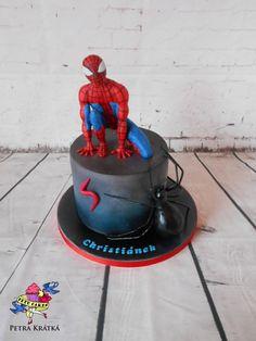 Spiderman and spider - cake by Petra Krátká (Petu Cakes) - CakesDecor Spiderman Birthday Cake, Superhero Cake, Ninja Cake, Spider Cake, Avenger Cake, Character Cakes, Batman, Just Cakes, Novelty Cakes