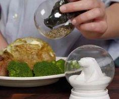 salt & pepper snow globes