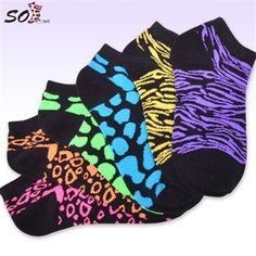 Mens low cut athletic Ankle sock Rainbow colorful Neon Tribal Non-Slip Short Sock