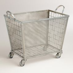Zinc Oliver Rolling Cart | World Market, $79.99 - for laundry room?