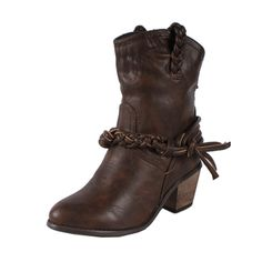 @Overstock - Featuring a slouchy synthetic leather upper, these pull-on Couture cowgirl boots from Liliana by Beston sport traditional styling updated with a braided ankle embellishment. A warm, brown body is punctuated by a sturdy block heel.http://www.overstock.com/Clothing-Shoes/Liliana-by-Beston-Womens-Couture-4-Brown-Cowgirl-Boots/7559780/product.html?CID=214117 $47.99