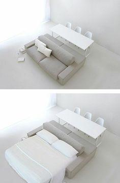 Bettsofa mit Matratze und Bettkasten modern