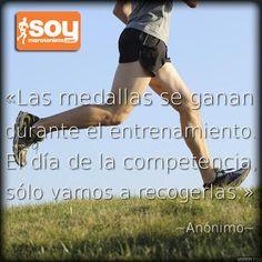 Las medallas se ganan en el entrenamiento #correr #running #SoyMaratonista