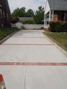 Paver and concrete driveway