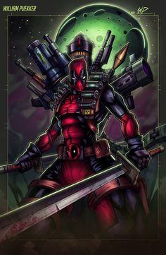 #Deadpool #Fan #Art. (One Man Army!) By:Puekkers. (THE * 5 * STÅR * ÅWARD * OF: * AW YEAH, IT'S MAJOR ÅWESOMENESS!!!™)[THANK Ü 4 PINNING<·><]<©>ÅÅÅ+(OB4E)
