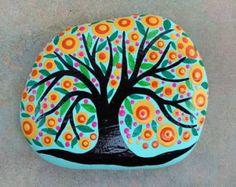 PINTADA piedra playa / arte de piedra / pintada por NatureParadise