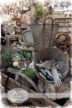I'd like one of these live pails--**My Desert Cottage**: Paris Marketplace at Sweet Salvage
