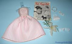 Vintage 1960s Fab-Lu Babs Barbie Queen Of Hearts Outfit Complete W Access JP17 #FabLu