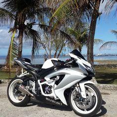 Suzuki gsx r Triumph Motorcycles, Suzuki Motorcycle, Cool Motorcycles, Motorcycle Gear, Motorcycle Quotes, White Motorcycle, Motorcycle Touring, Suzuki Gsx R, Bobbers