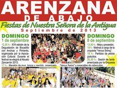 #ArenzanaDeAbajo programación de Fiestas de Nuestra Señora de la Antigua #FiestasRiojanas