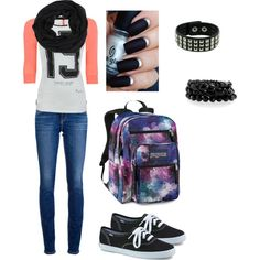 """""""Outfits for school #8"""" by aeris-mia-busa on Polyvore"""
