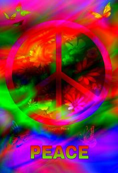 Hippie Peace Sign Art....