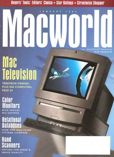 Macintosh TV. First black Macintosh and first Mac with a TV tuner. Graced the cover of Macworld 1994 in February.