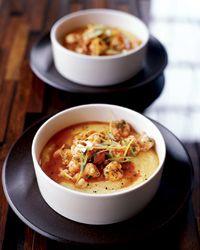 Very Soft Polenta with Rock Shrimp Ragout // More Seafood Recipes: http://www.foodandwine.com/slideshows/sustainable-seafood #foodandwine