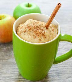 Skinny Apple Spice Mug Cake | Kirbie's Cravings | A San Diego food blog
