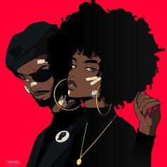 Twitter Foto Cartoon, Dope Cartoon Art, Cartoon Art Styles, Cartoon Cartoon, Black Couple Art, Black Love Art, Black Girl Art, Black Cartoon Characters, Black Girl Cartoon