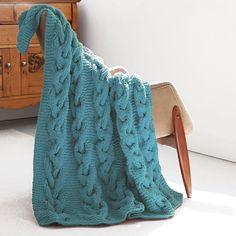 Bernat® Blanket™ Cable Knit Afghan