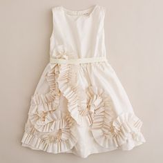 J Crew Flower Girl Dresses...so cute.