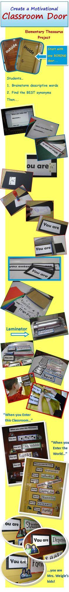 Creative Elementary Writing Activities: Classroom Door Decoration